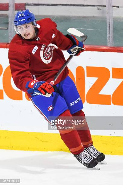 Look on Montreal Canadiens Prospect Centre Allan McShane during the Montreal Canadiens Development Camp on June 29 at Bell Sports Complex in Brossard...