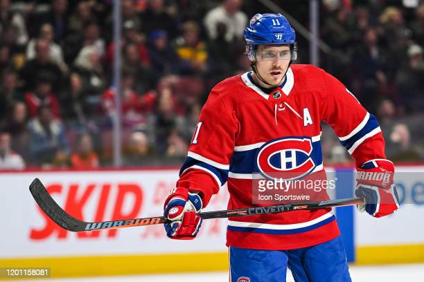 Look on Montreal Canadiens right wing Brendan Gallagher during the Dallas Stars versus the Montreal Canadiens game on February 15 at Bell Centre in...