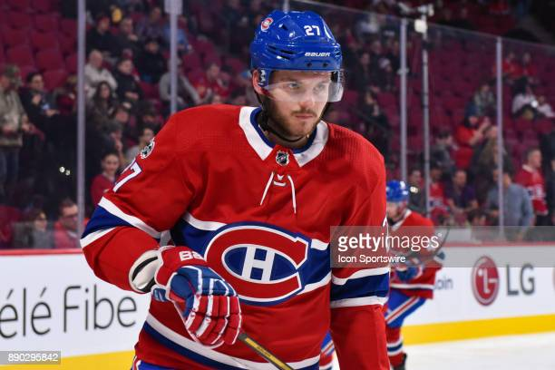 Look on Montreal Canadiens Winger Alex Galchenyuk at warm up before the Calgary Flames versus the Montreal Canadiens game on December 7 at Bell...