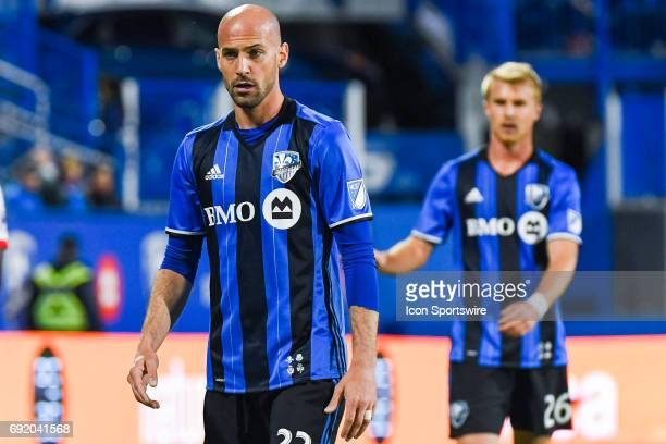 Look on Montreal Impact defender Laurent Ciman during the New York Red Bulls versus the Montreal Impact game on June 3 at Stade Saputo in Montreal QC