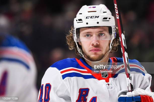 Look on New York Rangers left wing Artemi Panarin during the New York Rangers versus the Montreal Canadiens game on February 27 at Bell Centre in...