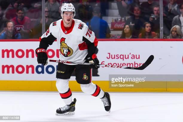 Look on Ottawa Senators defenseman Thomas Chabot during the Ottawa Senators versus the Montreal Canadiens preseason game on September 30 at Bell...