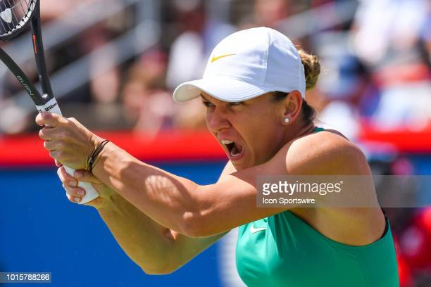 Look on Simona Halep during the WTA Coupe Rogers final on August 12 2018 at IGA Stadium in Montréal QC