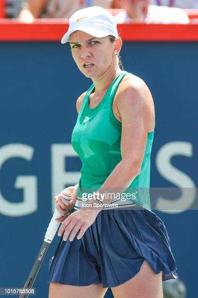 Look on Simona Halep during the WTA Coupe Rogers final on August 12, 2018 at IGA Stadium in Montréal, QC
