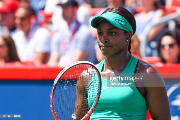 Look on Sloane Stephens during the WTA Coupe Rogers final on August 12, 2018 at IGA Stadium in Montréal, QC