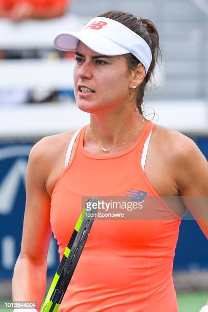 Look on Sorana Cirstea during her first round match at WTA Coupe Rogers on August 7 2018 at IGA Stadium in Montréal QC