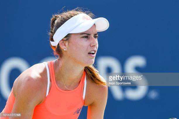 Look on Sorana Cirstea during her second round match at WTA Coupe Rogers on August 9 2018 at IGA Stadium in Montréal QC