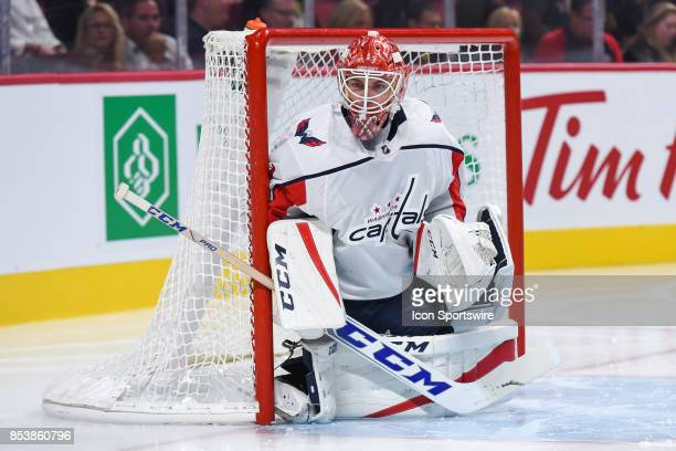 Look on Washington Capitals goalie Pheonix Copley during the Washington Capitals versus the Montreal Canadiens preseason game on September 20 at Bell...