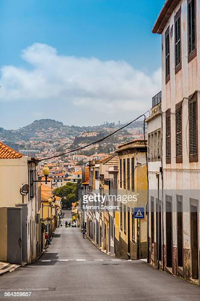 look onto funchal from rua bela sao tiago - funchal stock pictures, royalty-free photos & images