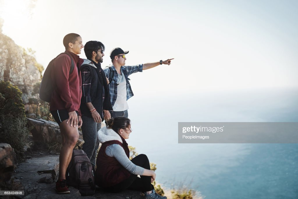 Look over there! : Stock Photo