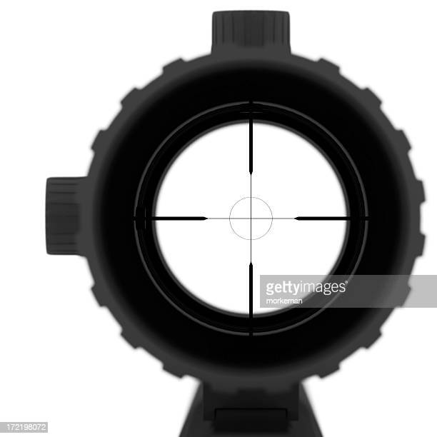look trough a riflescope