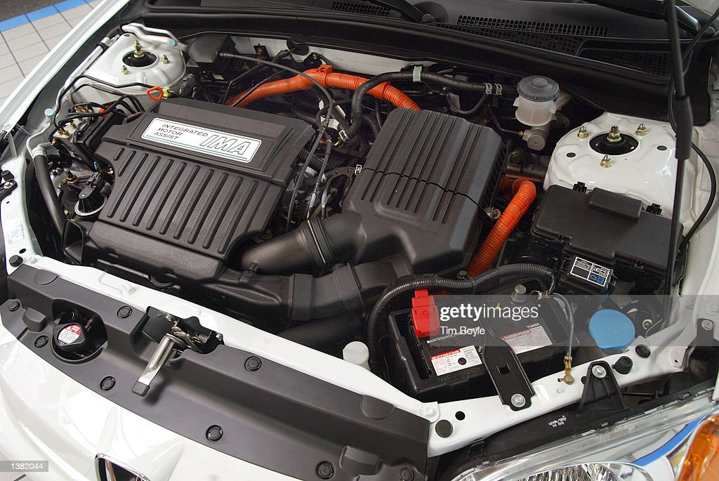 hood shows  hybrid gasoline electric engine  news photo getty images