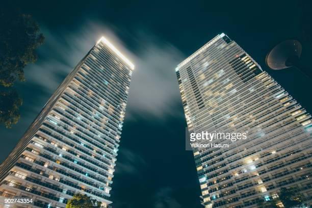 Look up at luxury condominium