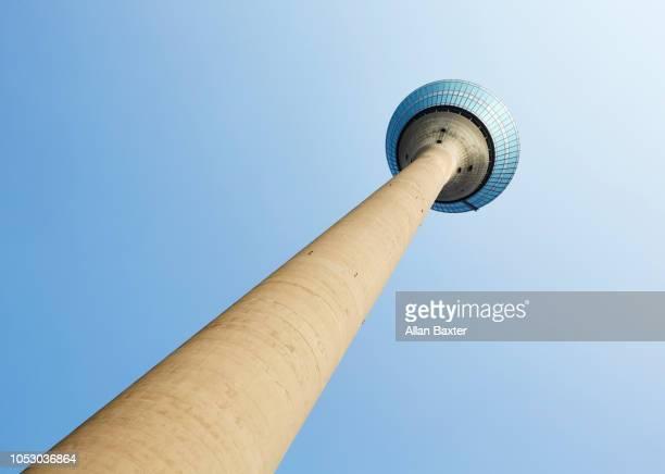 Look up the Rheinturm television tower