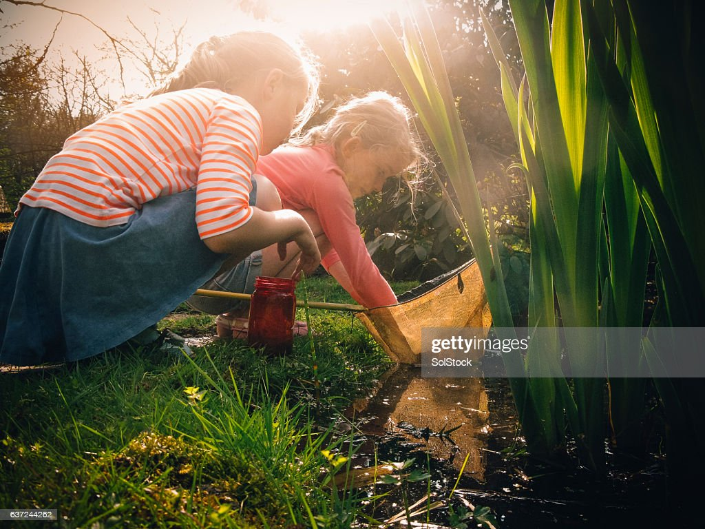 Look what I've caught! : Stock Photo