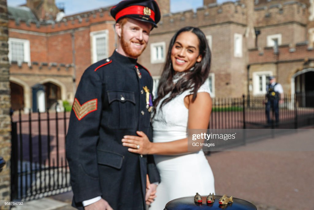 Lookalikes Meghan Markle and Prince Harry take their new Sexy Fish Car out for a spin, to do some last minute wedding errands, on May 4, 2018 in London, United Kingdom.