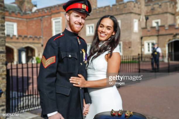 Lookalikes Meghan Markle and Prince Harry take their new Sexy Fish Car out for a spin to do some last minute wedding errands on May 4 2018 in London...