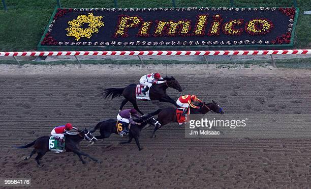 Lookin At Lucky ridden by Martin Garcia holds off First Dude ridden by Ramon Dominguez Jackson Bend ridden by Mike Smith and Yawanna Twist ridden by...