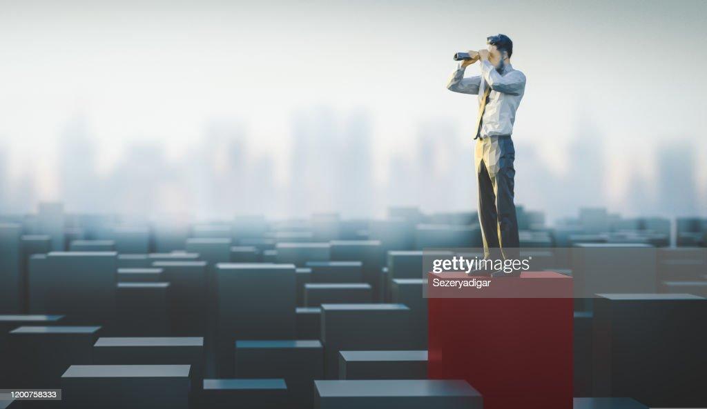 Ricerca, rendering 3d : Foto stock