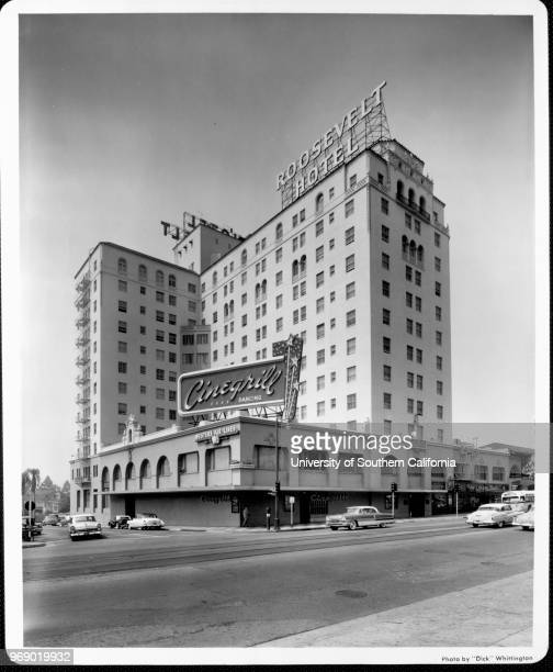 Looking across Hollywood Boulevard to the Roosevelt Hotel Los Angeles California early to mid twentieth century