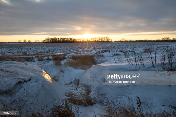 Looking across the agricultural fields St Vincent United States of America on December 5 2017