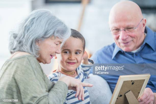 Looking At A Family Photo