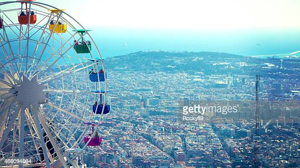Looking at Barcelona from Mount Tibidabo