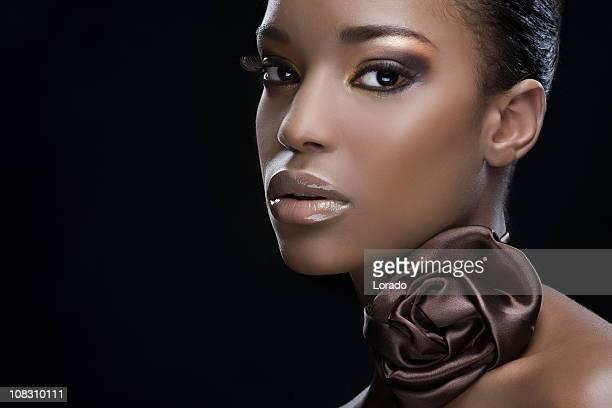 looking at camera black beauty