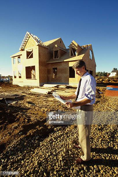 looking at construction plans