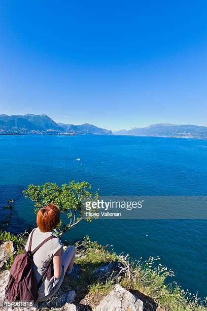 Guardando al Lago di Garda