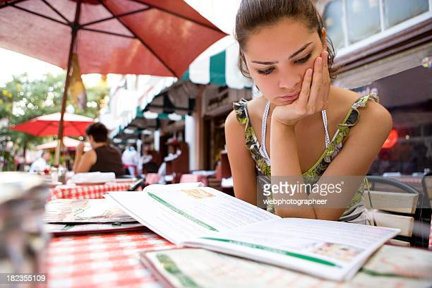 Looking at menu