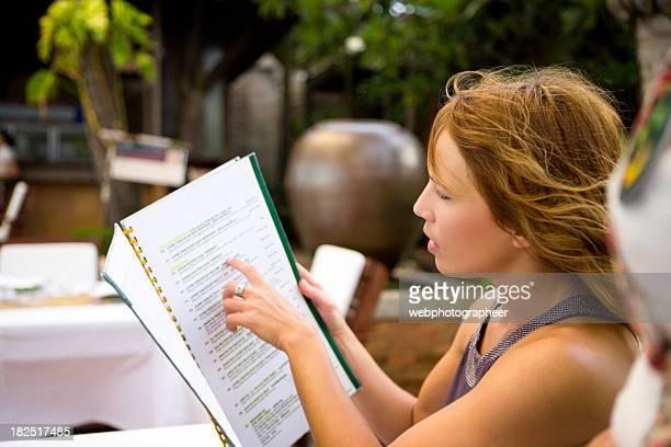 Looking at menu