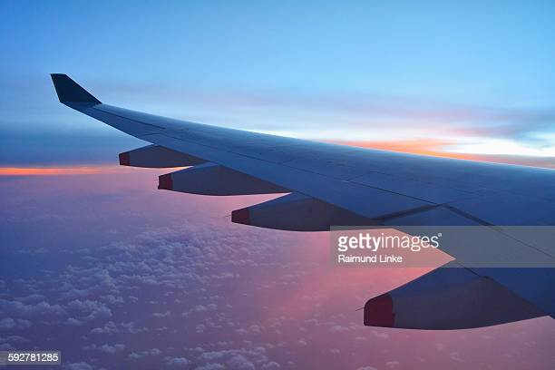 Looking at the aircraft wing