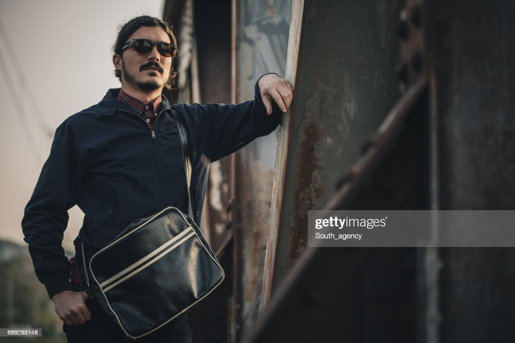 Looking at the city : Stock Photo
