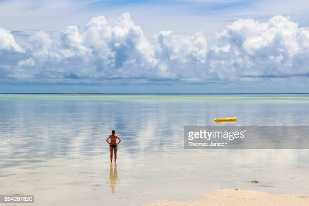 Looking at the cloud reflections in the distance, Palau