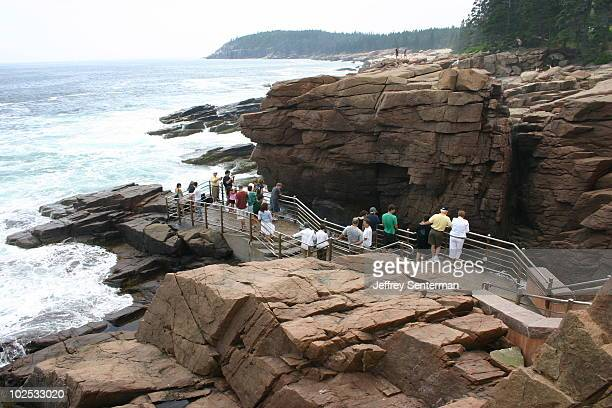 Looking at Thunder Hole in Acadia National Park