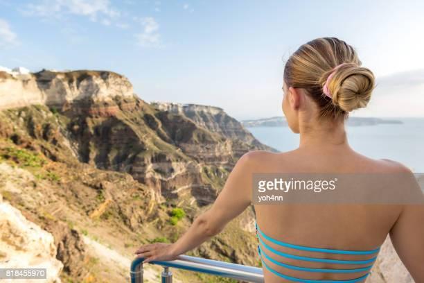 Blick auf vulkanischen Berge
