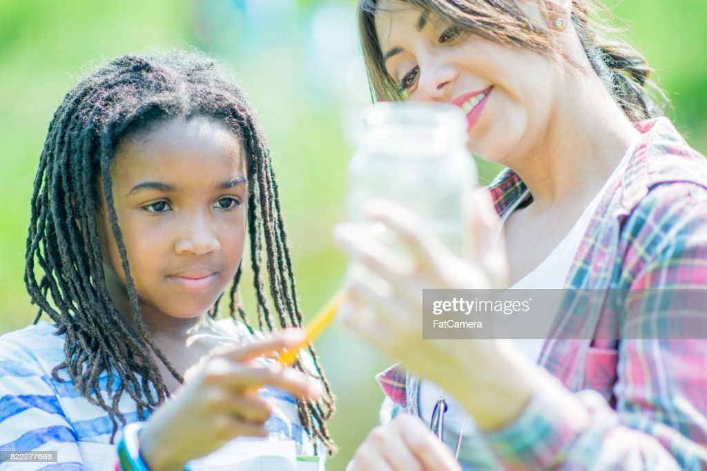 Looking At Water Sample : Stock Photo