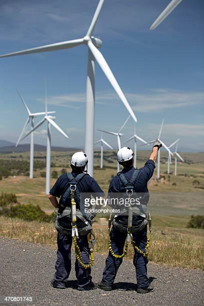 Looking at wind turbines