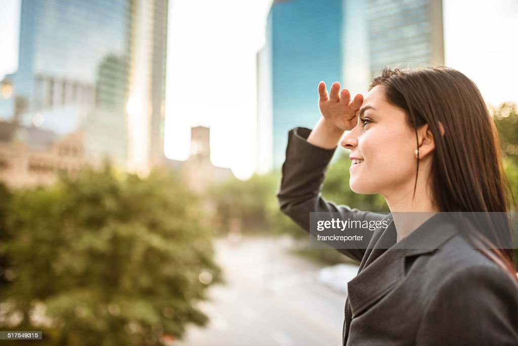 looking away for New business opportunities : Stock Photo