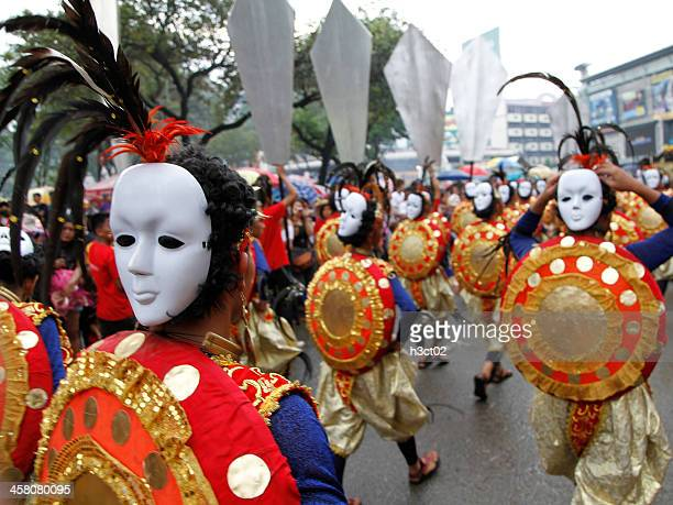 looking back - sinulog festival stock photos and pictures