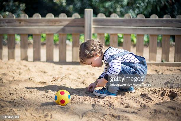 Looking closely at the sand