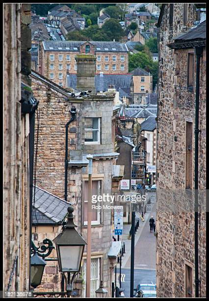 Looking down across St Mary's Gate to Sun St in Lancaster City Centre