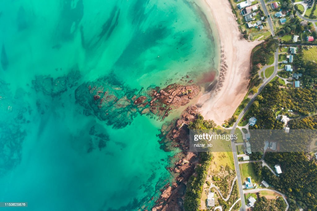 Looking down at beach. : Stock Photo