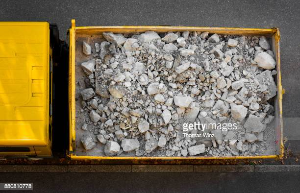 looking down at dump truck - gravel stock pictures, royalty-free photos & images