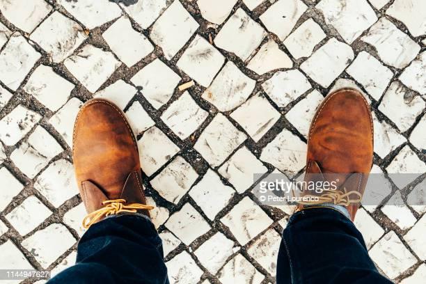 Looking down at feet