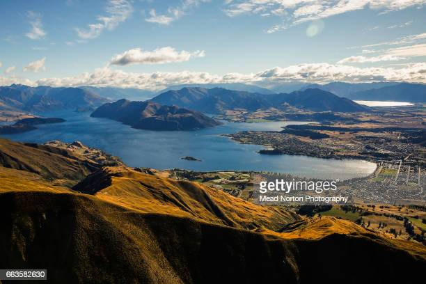 Looking down at Lake Wanaka during the Tour of New Zealand on April 2 2017 in Wanaka New Zealand
