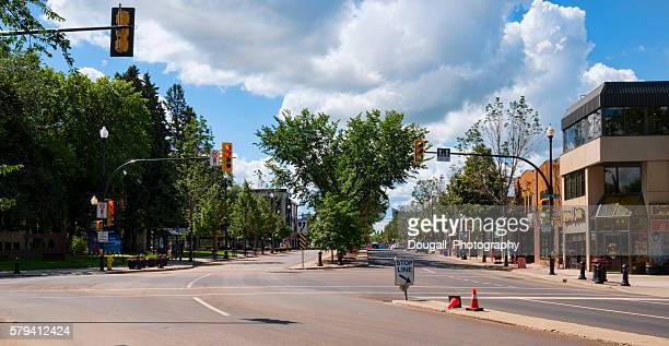 Looking Down Broadway Avenue in Saskatoon Saskatchewan