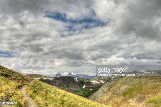 Looking Down Continental Divide Trail at Mountains