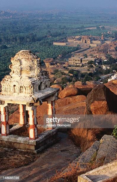 Looking down from Matanga Hill towards Krishna Temple.